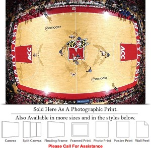 "University of Maryland Basketball Comcast Center Photo Print 24"" x 18"""