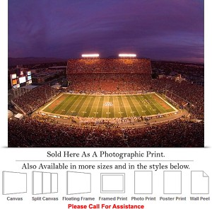 "University of Arizona Game Night at Stadium Sports Photo Print 24"" x 18"""