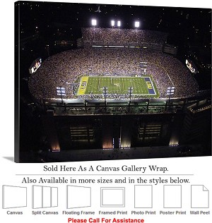 "Louisiana State University View of Tiger Stadium Canvas Wrap 30"" x 23"""