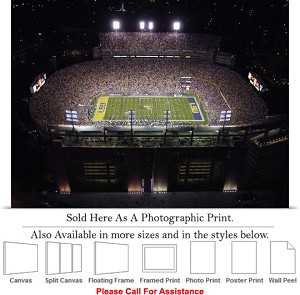 "Louisiana State University View of Tiger Stadium Photo Print 24"" x 18"""
