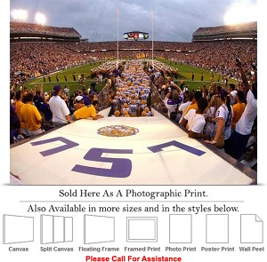 "Louisiana State University Tigers Football Team Photo Print 24"" x 18"""
