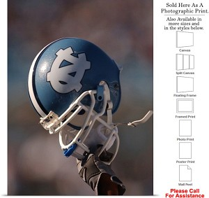 "University of North Carolina Football Helmet Sport Photo Print 18"" x 24"""