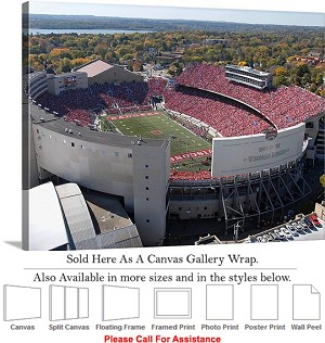 "University of Wisconsin at Camp Randall Stadium-2 Canvas Wrap 30"" x 23"""