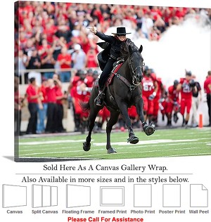 "Texas Tech University Tradition The Masked Rider Canvas Wrap 30"" x 23"""