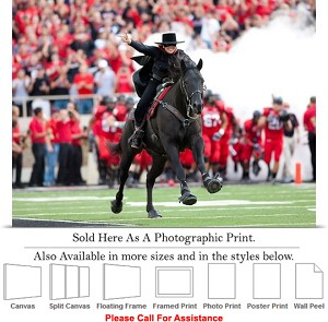 "Texas Tech University Tradition The Masked Rider Photo Print 24"" x 18"""