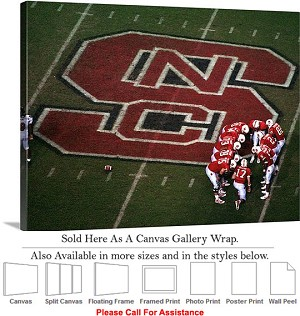 "North Carolina State University Football Huddle Canvas Wrap 30"" x 23"""