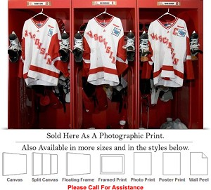 "University of Wisconsin in the Locker Room Sports Photo Print 24"" x 16"""