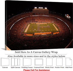 "University of Tennessee College at Neyland Stadium Canvas Wrap 30"" x 20"""