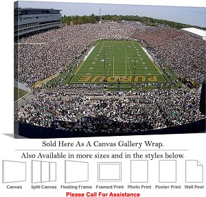 "Purdue University Football Game Ross Ade Stadium Canvas Wrap 30"" x 20"""