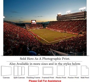 "University of Utah College at Rice Eccles Stadium Photo Print 24"" x 16"""