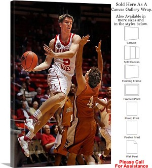 "University of Utah Basketball Player Sports Pose Canvas Wrap 20"" x 30"""