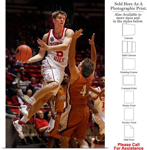 "University of Utah Basketball Player Sports Pose Photo Print 16"" x 24"""