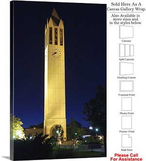 "University of Nebraska Campus at Henningson Tower Canvas Wrap 20"" x 30"""