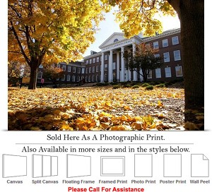 "University of Nebraska Building on College Campus Photo Print 24"" x 16"""