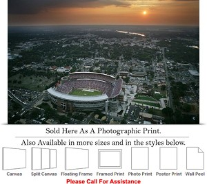 "University of Alabama Stadium Aerial at Sunset Photo Print 24"" x 16"""