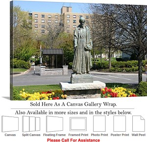 "Niagara University College at St. Vincent Statue Canvas Wrap 30"" x 20"""