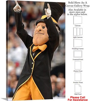 "Wake Forest University Deacon Conducting the Crowd Canvas Wrap 20"" x 30"""