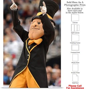 "Wake Forest University Deacon Conducting the Crowd Photo Print 16"" x 24"""