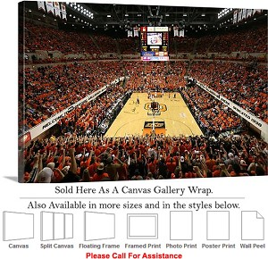 "Oklahoma State University at Gallagher Iba Arena Canvas Wrap 30"" x 20"""