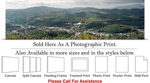 "Appalachian State University View College Campus Photo Print 36"" x 10"""