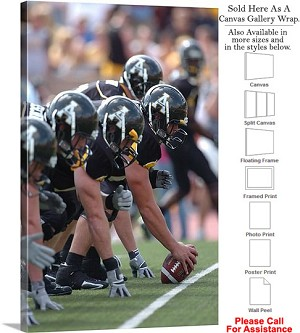 "Appalachian State University Mountaineer Line Canvas Wrap 20"" x 30"""