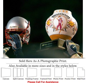 "University of New Mexico Holding High the NM Bowl Photo Print 24"" x 17"""