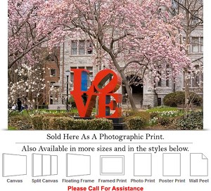 "University of Pennsylvania Campus The Love Statue Photo Print 24"" x 16"""