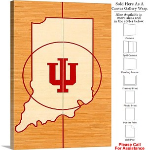 "University of Indiana The Floor in Assembly Hall Canvas Wrap 20"" x 30"""