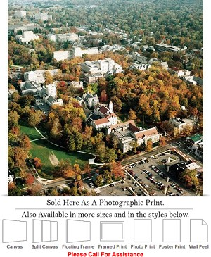"University of Indiana View of College Campus Fall Photo Print 16"" x 16"""