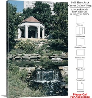 "University of Indiana Gazebo Waterfall on Campus Canvas Wrap 22"" x 30"""
