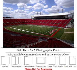 "University of Louisville Empty Cardinal Stadium Photo Print 24"" x 16"""
