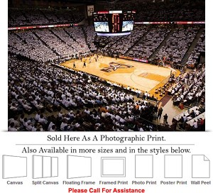 "Texas A&M University Basketball Court Reed Arena Photo Print 24"" x 16"""