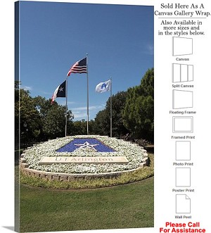 "University of Texas at Arlington Logo and Flags Canvas Wrap 20"" x 30"""