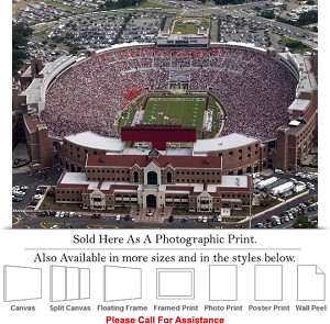 "Florida State University Doak Campbell Stadium Photo Print 30"" x 14"""