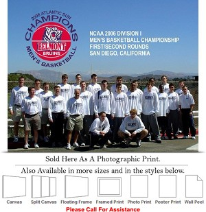 "Belmont University The 2006 Atlantic Sun Champions Photo Print 20"" x 16"""
