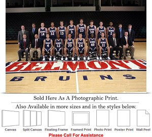 "Belmont University College Bruins Basketball Team Photo Print 24"" x 16"""