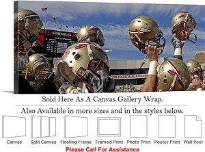 "Florida State University College Football Helmets Canvas Wrap 48"" x 19"""