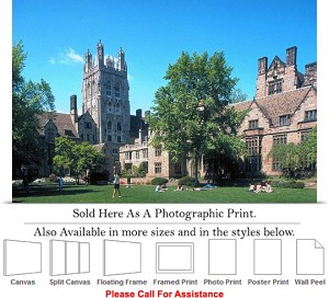 "Yale University at Branford College on a Sunny Day Photo Print 24"" x 16"""