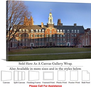"Yale University Campus at The Davenport College Canvas Wrap 30"" x 20"""