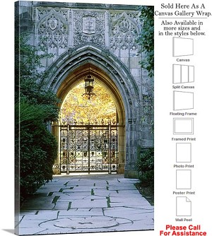 "Yale University College at Harkness Memorial Gate Canvas Wrap 20"" x 30"""