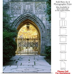 "Yale University College at Harkness Memorial Gate Photo Print 16"" x 24"""