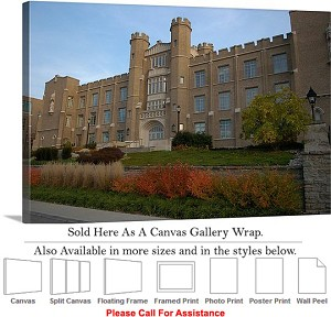 "Xavier University College Campus at Hinkle Hall Canvas Wrap 30"" x 20"""