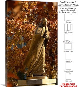 "Xavier University a Saints Walk Statue on Campus Canvas Wrap 20"" x 30"""