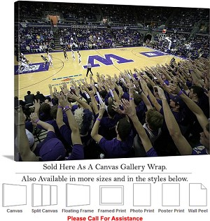 "University of Washington at Home Court for Huskies Canvas Wrap 30"" x 23"""