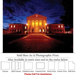 "University of Mississippi College Campus Lyceum  Photo Print 24"" x 16"""
