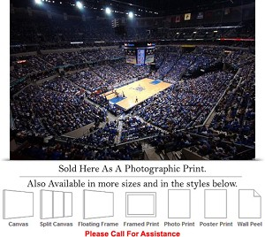 "University of Memphis College Basketball Court Photo Print 24"" x 16"""