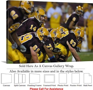 "Arizona State University Offensive Line Football Canvas Wrap 30"" x 20"""