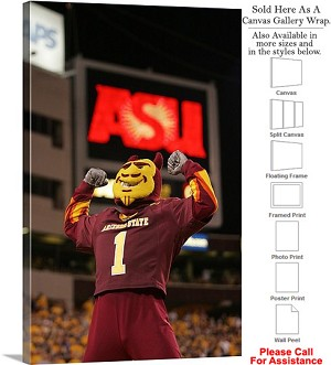 "Arizona State University Sparky and an ASU Sign Canvas Wrap 20"" x 30"""