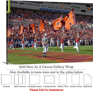 "Virginia Tech HOKIE Flags at the ACC Championship Canvas Wrap 30"" x 20"""
