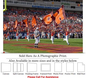 "Virginia Tech HOKIE Flags at the ACC Championship Photo Print 24"" x 16"""